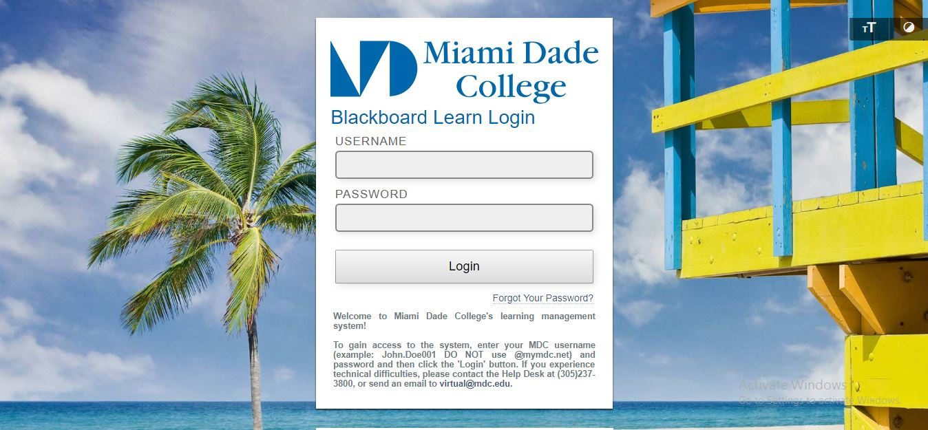 Miami Dade College Blackboard
