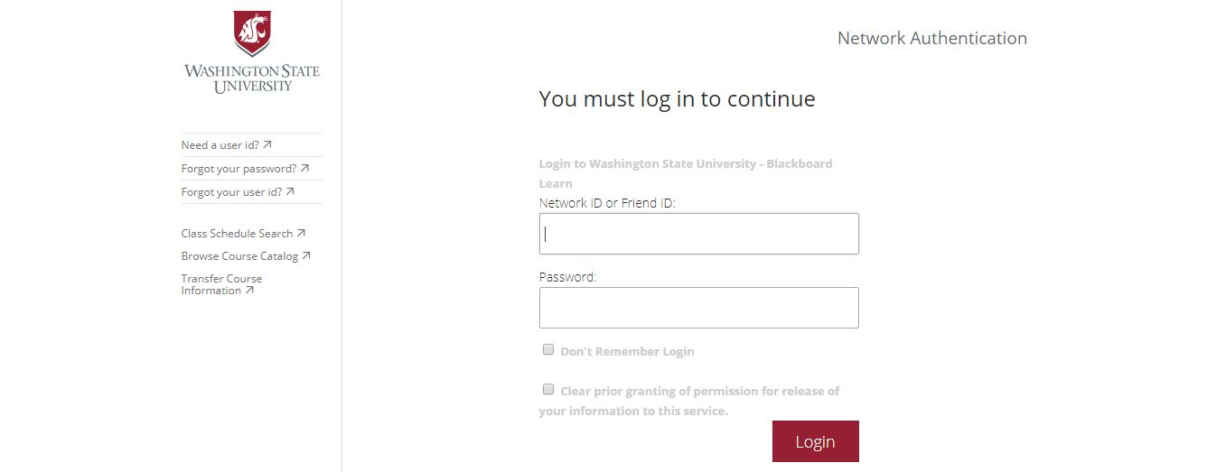 WSU Blackboard Login