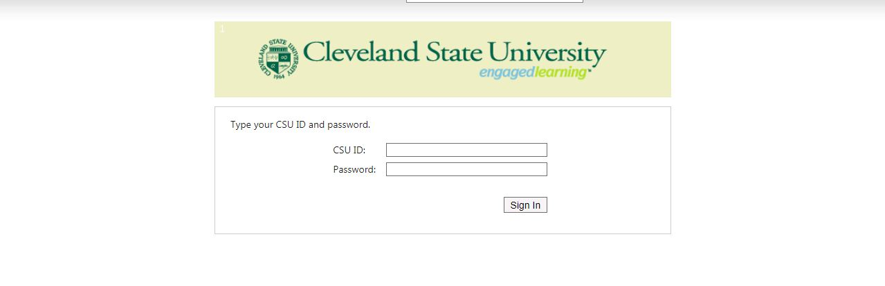 Cleveland State University Blackboard Login