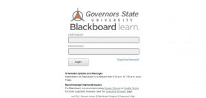 Governors State University Blackboard Login