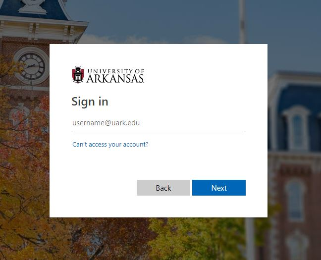 UARK Blackboard Login