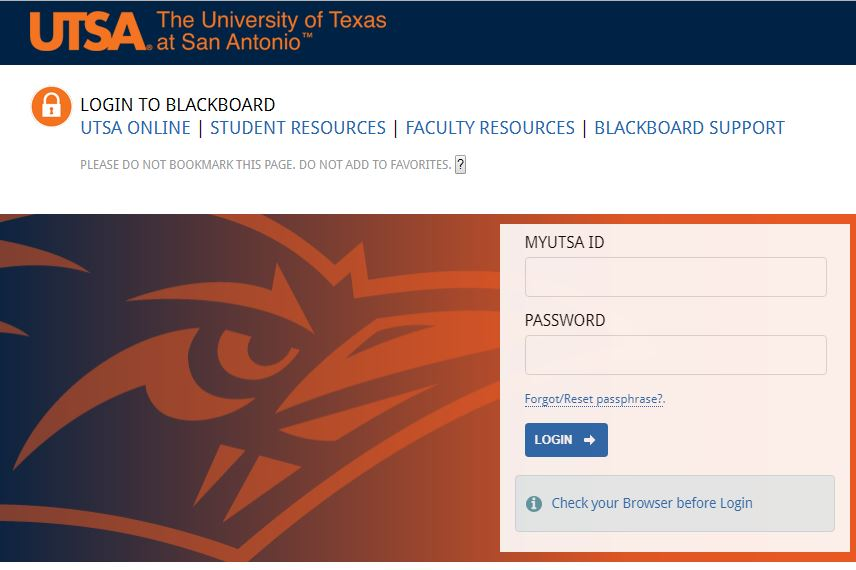 UTSA Blackboard Learn