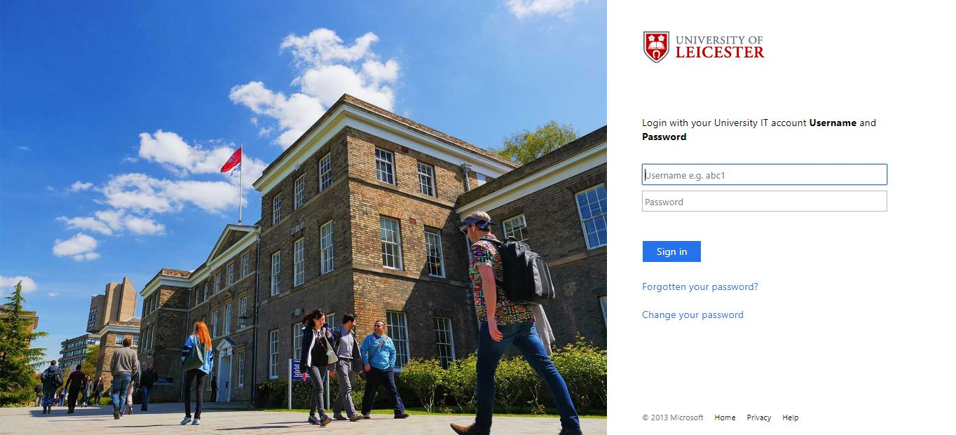University of Leicester Blackboard Login