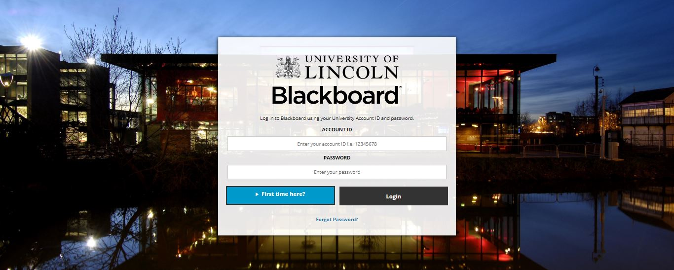 University of Lincoln Blackboard Login