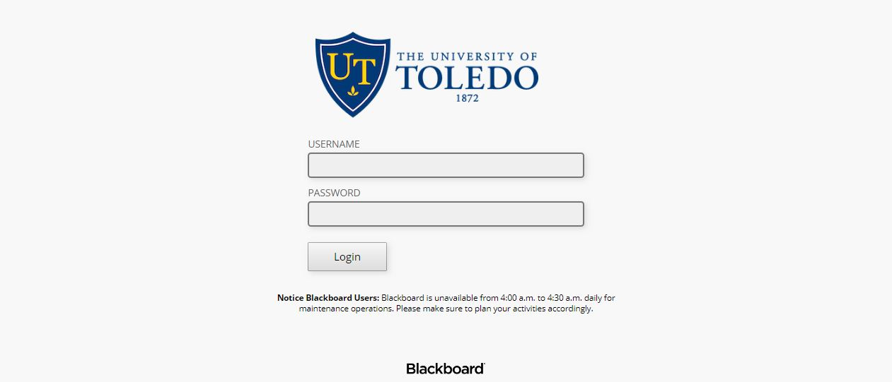 University of Toledo Blackboard Login