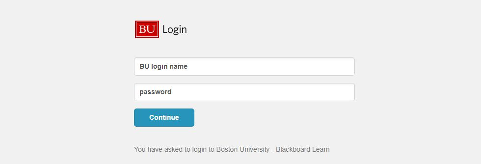 BU Blackboard Login