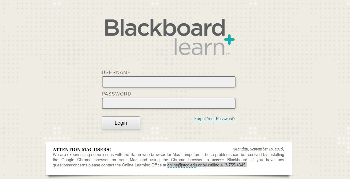 STCC Blackboard Login